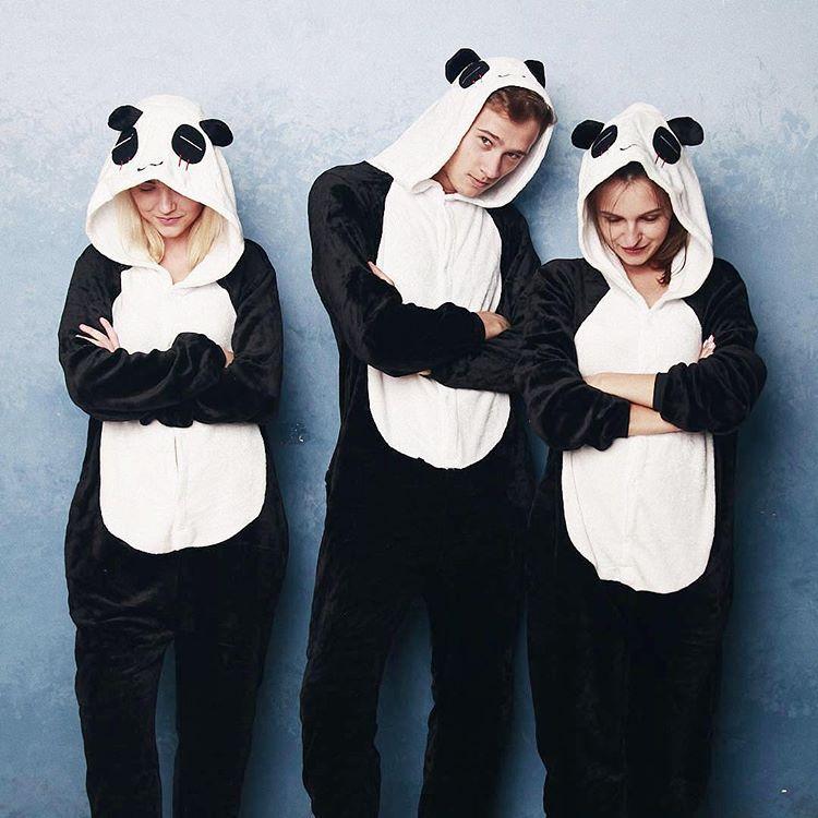 prix plus bas avec Chaussures de skate rencontrer Pyjama Panda: une combinaison idéale pour les adultes ...
